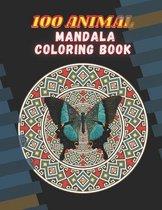100 Animal Mandala Coloring Book