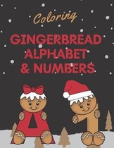 Coloring Gingerbread Alphabet & Numbers