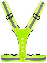 Hardloopvest met LED verlichting - USB oplaadbaar - Sportvest - Geel