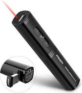 Pisen Presenter met Laserpointer - Oplaadbaar - Powerbank - 2500 Mah - Zwart