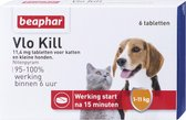 Beaphar Vlo Kill -  Kleine Hond/Kat - Tot 11 Kg - 6 Tabletten
