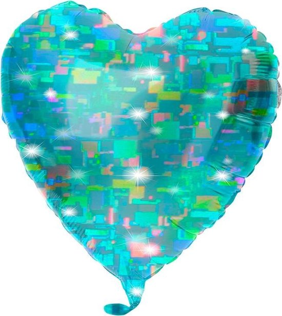 24in/61cm Heart Transp. Aqua
