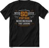 50 Jaar Legend - Abraham Feest kado T-Shirt Heren / Dames - Zilver / Goud - Perfect Verjaardag Jubileum Cadeau Shirt - grappige Spreuken, Zinnen en Teksten.
