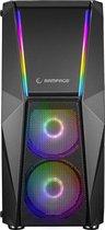 Rampage X-Force Gaming PC Behuizing/Toren Midi Tower - Zwart