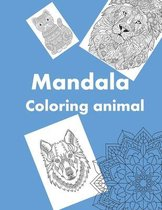 mandala coloring animal
