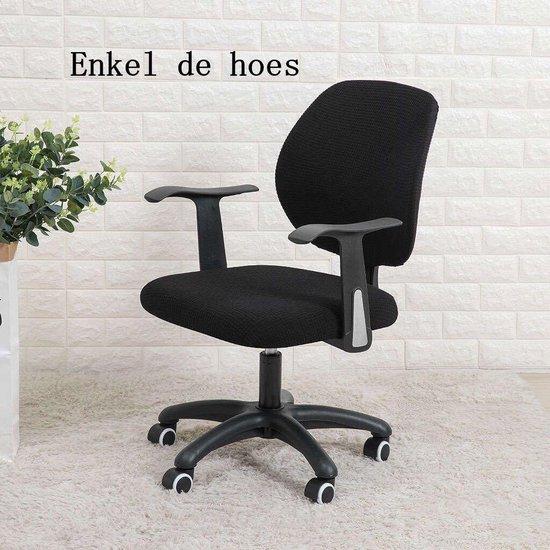 Ralfos Bureaustoelhoes - bureaustoel hoes - Zwart - Hoes - Universeel - Voor rugleuning en zitting - Waterafstotende stoelhoes - Stretch - Kantoor en thuisgebruik - Wasmachine bestendig - Cadeau tip