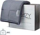 Calmzy Verzwaringsdeken 8 kg - Weighted blanket - Verzwaard deken - Slapen - Relaxen - Anti-Stress - Kalmeringsdeken - 150 cm x 200 cm - Donkergrijs