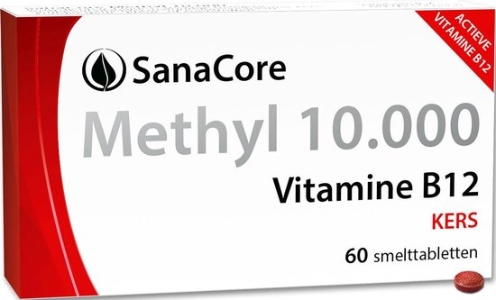 SanaCore Methyl 10.000 - Actieve Vitamine B12 - 60 zuigtabletten - Methylcobalamine