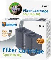 SuperFish AquaFlow Easy Click 100 Cartridge - Aquariumfilter - 2 Stuks