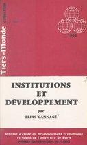 Omslag Institutions et développement