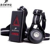 BOWINQ - Hardloop verlichting vest - 2021 model - Hoge kwaliteit LED verlichting - Borstlamp met 90º stralingshoek - Waterdicht - USB oplaadbaar - Reflecterende banden - Geschikt voor hardlopen, wandelen, outdoor