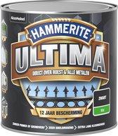 Hammerite Ultima Metaallak - Mat - Zwart - 0,25L