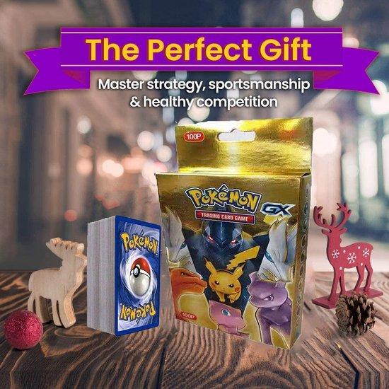 Afbeelding van het spel SunAurora 100 Stuks Pokemon-kaarten, Pokemon-Ruilkaarten Set, Pokemon GX Kaarten,Beste Cadeau voor Kinderen
