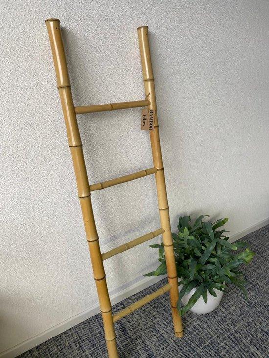 Bol Com Bamboo Vibes Houten Decoratie Ladder Bamboe Decoratieve Accessoires Woonkamer 140x40cm