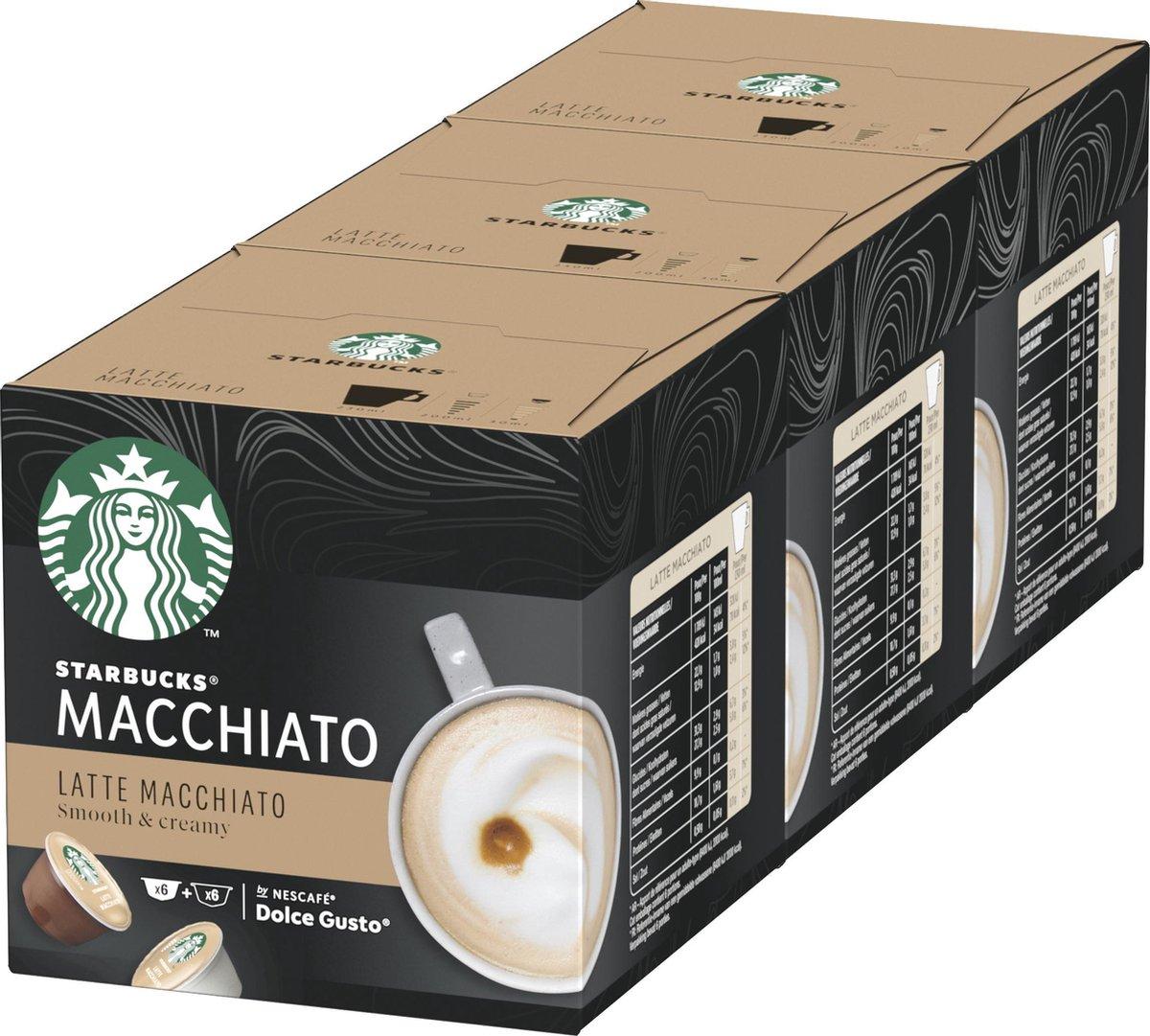 Starbucks by Dolce Gusto capsules Latte Macchiato - 36 koffiecups - geschikt voor 18 koppen koffie