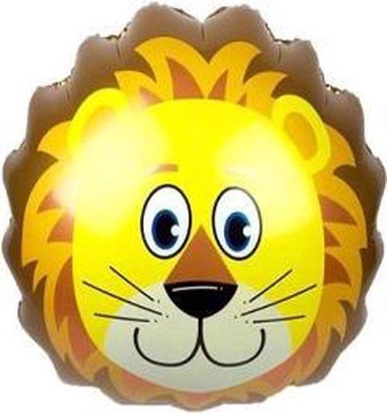 Leeuw ballon - XL - 76x72cm - Ballonnen - Versiering - Thema feest - Verjaardag - jungle - Dieren - Jungle versiering - Folie Ballon - Jungle ballon - Helium ballon