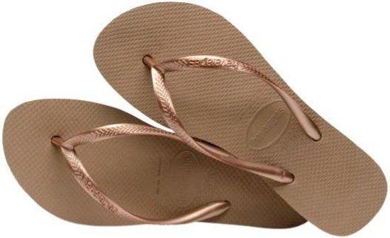 Havaianas Slim Flatform Dames Slippers - Rose Gold - Maat 39/40