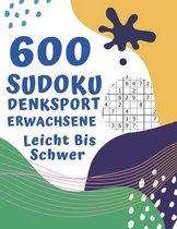 600 Sudoku Denksport Erwachsene Leicht Bis Schwer