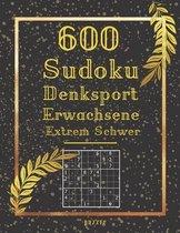 600 Sudoku Denksport Erwachsene Extrem Schwer