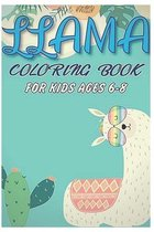 Llama coloring book for kids ages 6-8