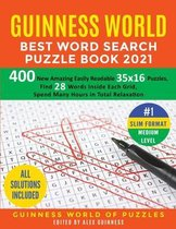 Guinness World Best Word Search Puzzle Book 2021 #1 Slim Format Medium Level