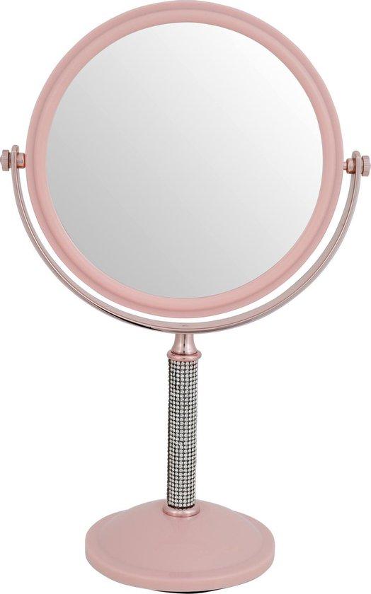Spiegel op voet, dubbelzijdig + een willekeurige paar oorbellen cadeau