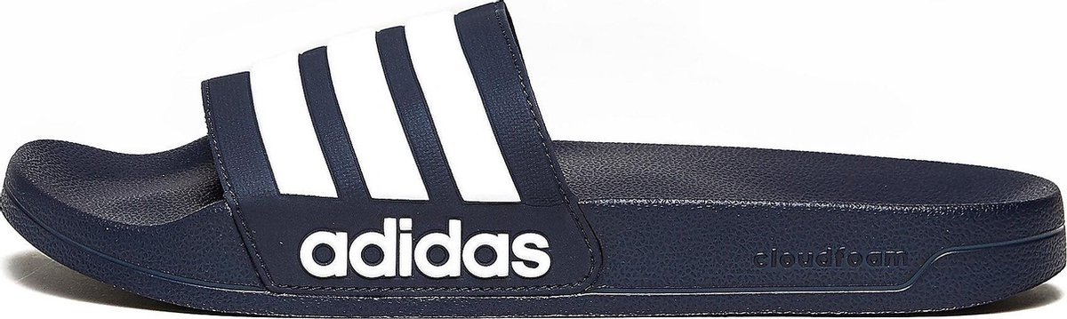 adidas Adilette Shower Heren Slippers - Collegiate Navy/Cloud White/Collegiate Navy - Maat 43