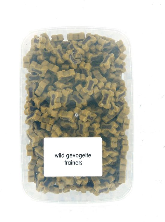 wild gevogelte trainers 500 gram - hondensnoepjes - mix bones - hondenbot - kauwbot - puppy - kleine hond