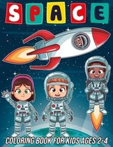 Space Coloring Book for Kids Ages 2-4