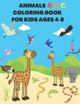 Animals Abc Coloring Book for Kids Ages 4-8