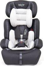 Blij'r Ivo - Autostoel - Klasse 1,2,3 - Geschikt voor 9-36 kg - Met extra vulling en 5 puntsgordel - Grijs/Zwart