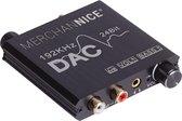 Merchannice Digitaal naar Analoog Audioconverter DAC - Toslink / optisch naar Minijack / Tulp - Volumeknop / Bassknop - 192Khz sample rate - Coaxiaal - SPDIF