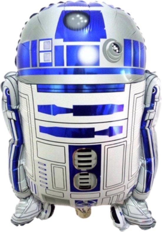 Star Wars R2D2 Ballon - Inclusief Opblaasrietje - Ballonnen - Ballonnen Verjaardag - Helium Ballonnen - Folieballon - Robot - Baby Yoda Darth Vader - R2-D2 - 60 x 50 cm
