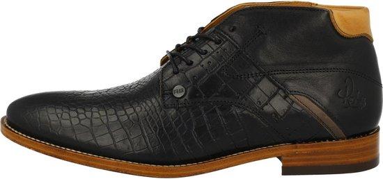 Rehab Footwear Adriano Croco Formal Shoe Men Nero 48