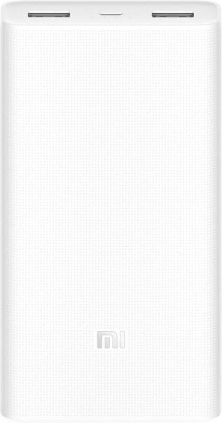 Afbeelding van Xiaomi 20.000 mAh Quick Charge 3.0 Powerbank 2 - Dual USB - Wit