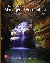 Boek cover Fundamental Managerial Accounting Concepts van Thomas P. Edmonds (Paperback)