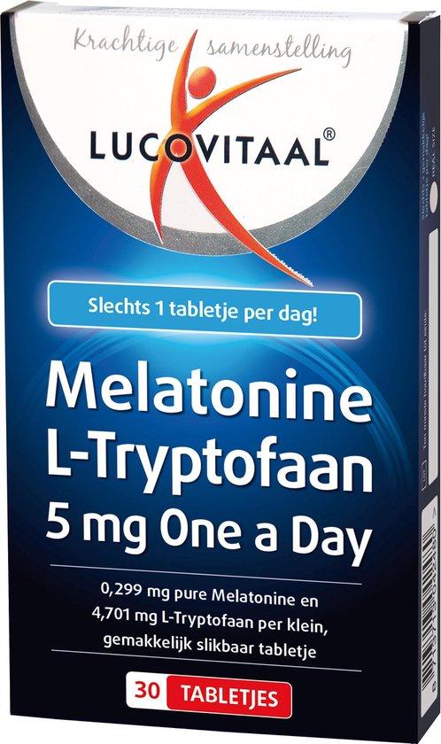 Lucovitaal Melatonine L-Tryptofaan 5mg One a Day Voedingssupplement - 30 tabletten
