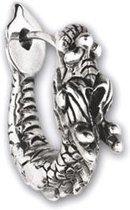 """Oorbel """"Zilveren Draak"""" 925 zilveren (1 stuk)"""