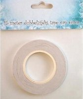 Nellie Snellen tissue tape dubbelzijdige dubbelzijdig klevende tape 15 mtr x 6 mm breed,