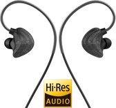 UiiSii CM5 Zwart - Hi-Res in-ear oortjes van professionele kwaliteit - Uniek design - Coax