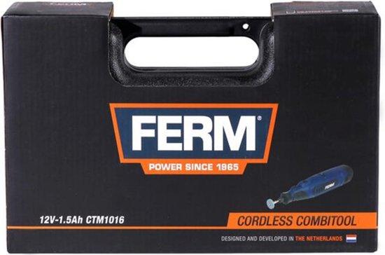 FERM CTM1016 Accu Combitool - Roterende Multitool - 12V - 1.5Ah - Li-Ion - Variabele snelheid - Incl. 45 Accessoires