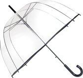 Smati Transparant Basic Paraplu - Transparant - Opent Automatisch - Zwart - Ø85cm