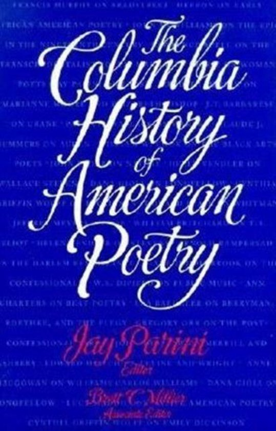 The Columbia History of American Poetry