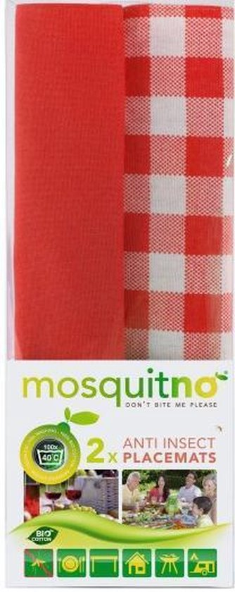 MosquitNo Anti-Insect Placemat Rood