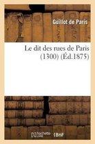 Le dit des rues de Paris (1300)