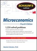 Boek cover Schaums Outline of Microeconomics, Fourth Edition van Dominick Salvatore