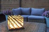 Candle Light Waxinelichthouder met spiegelglas Lifa Living