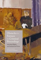 Omslag Obstacles to Fairness in Criminal Proceedings