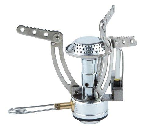 MacGyver Mini gasbrander RVS - Kookbrander - 10 cm - Elektronische ontsteking - Gasregelaar