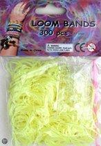 Bandjes Loom Bands 300 stuks: gel geel (37116)